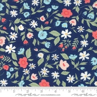 Moda Fabric - Garden Variety - Lella Boutique -Navy  #5070 12