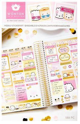 Craft Smith - Wonton in a Million - Sticker Book - Weekly Sticker Kit -  Besties