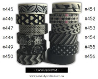 Washi Tape - Black - 15mm x 10 metres - High Quality Masking Tape - #445 - #456