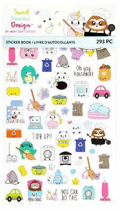 Sweet Craft Smith\u00ae Sweet Kawaii Design\u2122 Weekly Sticker Kit