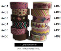 Washi Tape -  Pink - 15mm x 10 metres - High Quality Masking Tape - #481 - #492