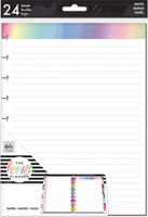 The Happy Planner - Me and My Big Ideas - Classic Refill Note Paper - Full Sheet - Rainbow Foil (Lined, Dot Grid)
