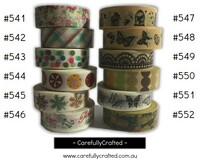 Washi Tape - Rainbow - 15mm x 10 metres - High Quality Masking Tape - #541 - #552