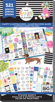 Me and My Big Ideas - The Happy Planner - Value Pack Stickers - Happy Illustrations