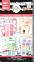 Me and My Big Ideas - The Happy Planner - Value Pack Stickers - Big Teacher - Colorful Boxes (Exclusive)