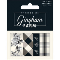 My Minds Eye - Gingham Farm - Washi Tapes - Set of 4