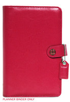 Webster's Pages - Color Crush - Faux Leather Personal Planner - Dark Pink - Binder Only