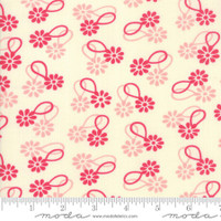 Moda Fabric - Cheeky - Urban Chiks - Rose Sweet Cream Daisy Chain#31141 11
