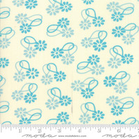 Moda Fabric - Cheeky - Urban Chiks - Blue Raspberry Cream Daisy Chain #31141 21