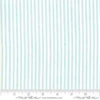Moda Fabric - Wovens - Bonnie & Camille - Stripe Aqua #12405 13