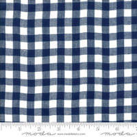 Moda Fabric - Wovens - Bonnie & Camille - Check Navy #12405 30