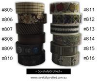 Washi Tape - Brown - 15mm x 10 metres - High Quality Masking Tape - #805 - #816