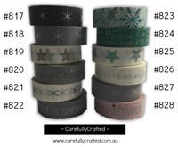 Washi Tape - Christmas - 15mm x 10 metres - High Quality Masking Tape - #817 - #828