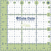 Lori Holt - Cute Cuts Ruler - 3-1/2in x 3-1/2in