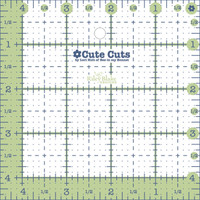 Lori Holt - Cute Cuts Ruler - 4-1/2in x 4-1/2in