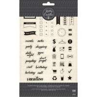 American Crafts - Kelly Creates - Acrylic Stamps - Planner Words & Icons