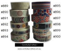 Washi Tape - Rainbow - 15mm x 10 metres - High Quality Masking Tape - #889- #900