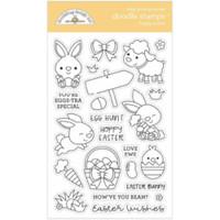 Doodlebug - Clear Doodle Stamps - Hoppy Easter