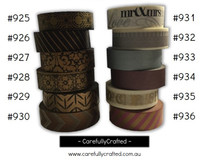 Washi Tape - Metallic - 15mm x 10 metres - High Quality Masking Tape - #925 - #936