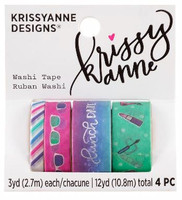 Krissyanne Designs - Kawaii Washi Tape Pack - Self Care
