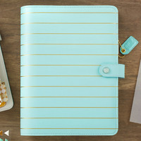Webster's Pages - Color Crush - A5 Faux Leather Planner Kit - Blue Gold Stripe