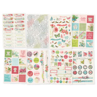 Carpe Diem - Simple Stories - Simple Vintage Botanicals - Stickers - 8 Sheets