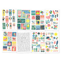 Carpe Diem - Simple Stories - Sunshine & Blue Skies - Stickers - 8 Sheets