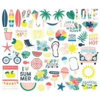 Carpe Diem - Simple Stories - Sunshine & Blue Skies Bits & Pieces Die-Cuts