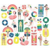Carpe Diem - Simple Stories - Sunshine & Blue Skies Bits & Pieces Die-Cuts - Pool People