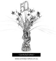 50th Balloon Centrepiece Weight - Silver