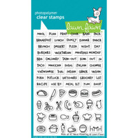 Lawn Fawn Clear Stamps - Plan On It- Meal Planning