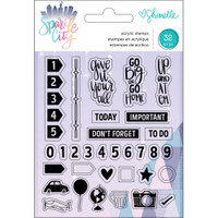 American Crafts - Shimelle Sparkle City Acrylic Stamps - Planner Icons