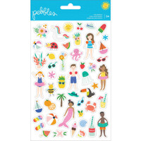 Pebbles - Oh Summertime Clear Stickers