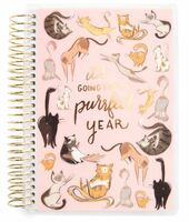 Recollections - Creative Year - Mini Spiral Planner - 2019-2020 Purr Cats (Dated, Horizontal)