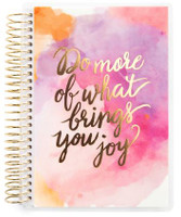 Recollections - Creative Year - Mini Spiral Planner - Watercolor Joy (Dated, Horizontal)