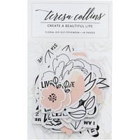 Teresa Collins - Die-Cut Ephemera - Floral