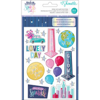 American Crafts - Shimelle Sparkle City Sticker & Washi Folder
