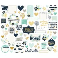 Carpe Diem - Simple Stories - Heart Bits & Pieces Die-Cuts