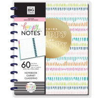 The Happy Planner - Me and My Big Ideas - Happy Notes - Think Happy, Be Happy - Big (Lined)