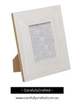 Photo Frame Gold Edge White  - Small