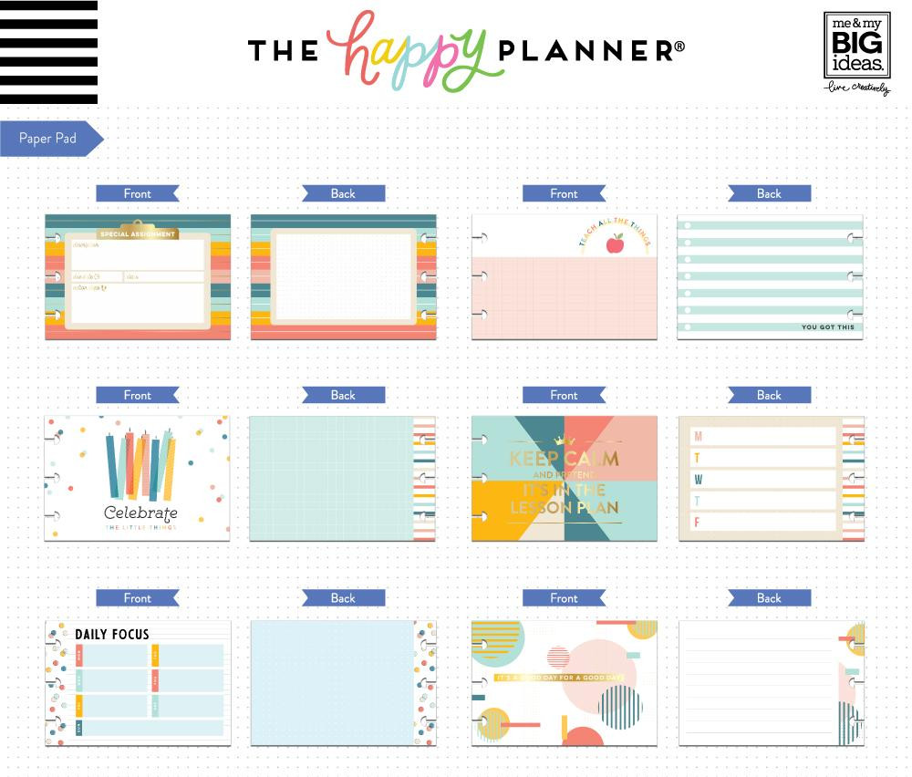 Me and My Big Ideas - The Happy Planner - Multi Accessory Pack - Retro  (Teacher)