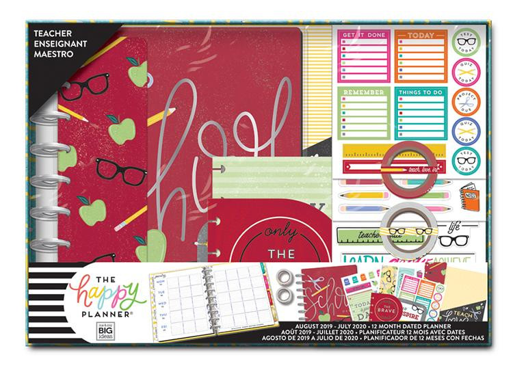 The Happy Planner - Me and My Big Ideas - Classic Teacher Box Kit - School  Days - 12 Months (Dated, Teacher)