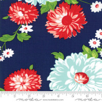 Moda Fabric - The Good Life - Bonnie & Camille - Navy Floral #55150 16 - 3.1 metres