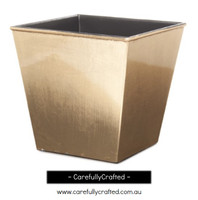 Plastic Planter Square - Gold