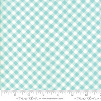 "Moda Fabric -  Lawns - 54"" Wide - Little Snippets - Bonnie & Camille - Aqua #55186 12LW - 50cm"