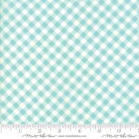 "Moda Fabric -  Lawns - 54"" Wide - Little Snippets - Bonnie & Camille - Aqua #55186 12LW - 50cm"