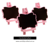 3 Mini Blackboard - Pink