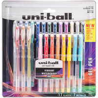 Uni-Ball Gelstick - Gel Pens - Ultra-Micro & Medium - Set of 24