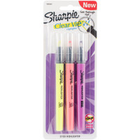 Sharpie - Clear View Stick Highlighters - Set of 3 - Yellow, Coral & Purple