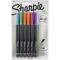 Sharpie - Fine Point Stylo Pens - Set of 6
